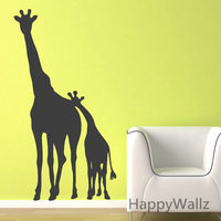 3d etiqueta de la pared de la jirafa bebé vivero jirafa etiqueta de la pared habitación de los niños diy decoración grande jirafa animal decoraciones extraíble pared a14