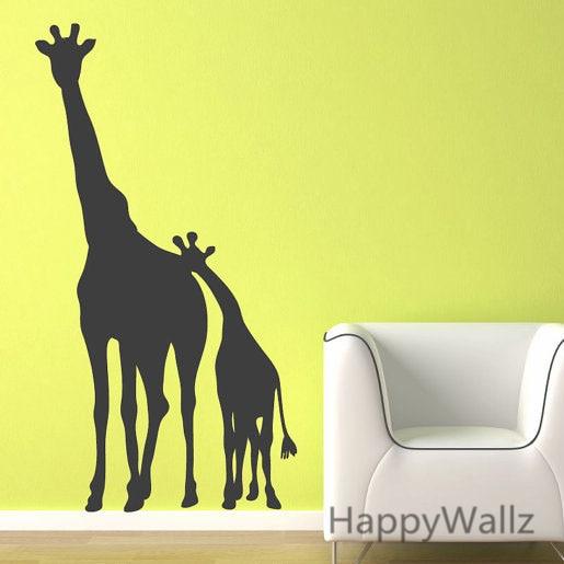 3d Giraffe Wandaufkleber Baby Kindergarten Giraffe Wandtattoo