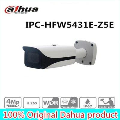 Livraison Gratuite DAHUA CCTV IP Caméra 4MP WDR IR Bullet Caméra Réseau avec POE sans Logo IPC-HFW5431E-Z5E