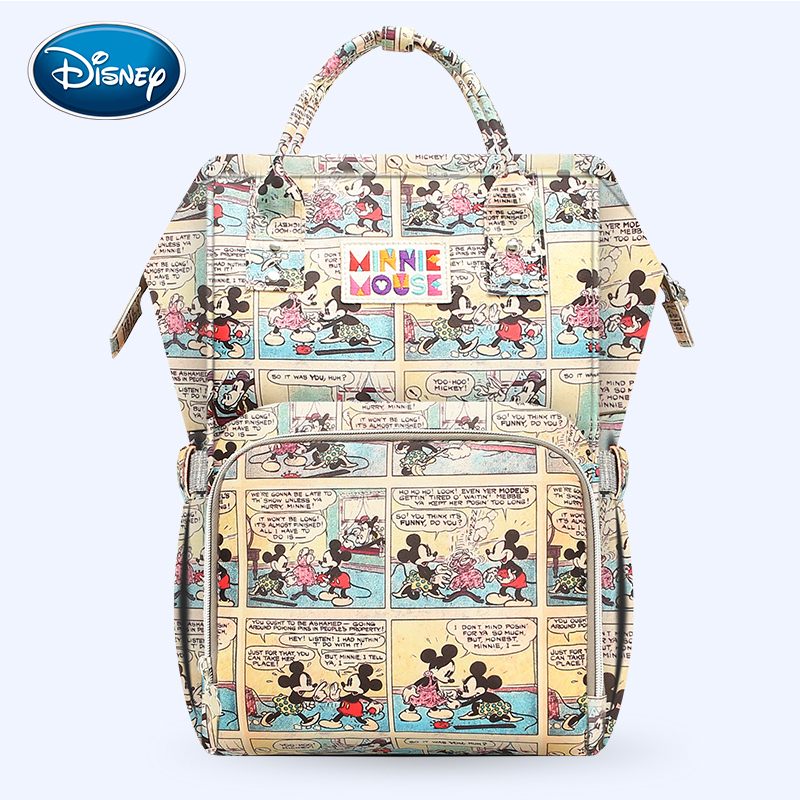 Disney Large Capacity USB Waterproof Diaper Bags Oxford Cloth Insulation Bags Bottle Feeding Storage Bag Mummy Travel BackpackDisney Large Capacity USB Waterproof Diaper Bags Oxford Cloth Insulation Bags Bottle Feeding Storage Bag Mummy Travel Backpack