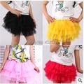 Лето младенцы малыша девочки одежда дети пачка юбка дети пушистый принцесса ну вечеринку юбки для девочки возраст 2T ~ 8