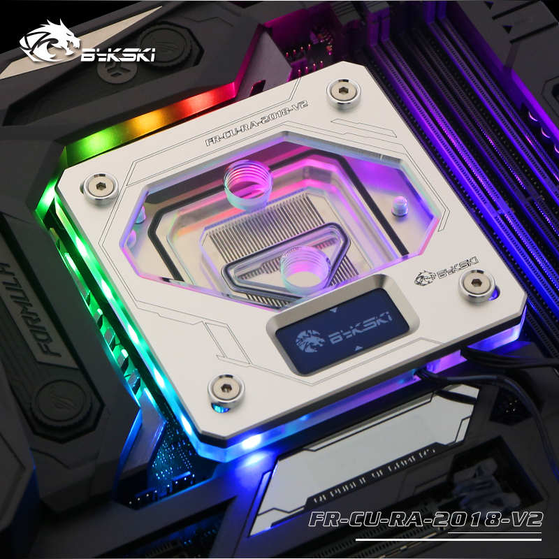 Bykski FR CU RA 2018 V2, Temperature Digital Display Water Block For Inter Cpu, Intelligent Temperature Monitoring-in Fans & Cooling from Computer & Office    1