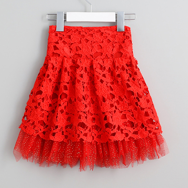 Xmas baby Girls skirt toddler pettiskirt tutu skirts red squin puffy skirts infant lace cake skirt children