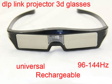 3D Active Shutter Glasses DLP-LINK DLP LINK 3D dlo glasses for Optoma Sharp LG Acer BenQ w1070 Projectors 3D glasses dlp link