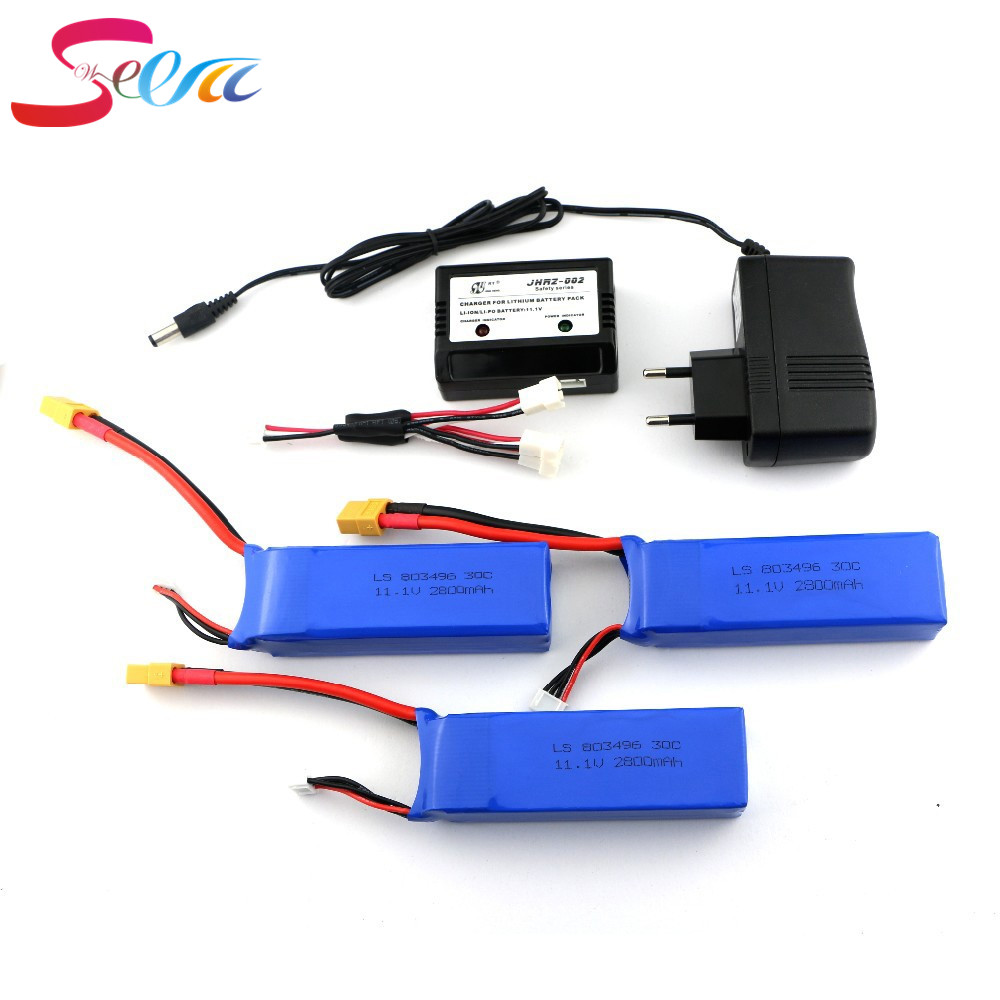 3pcs Cheerson CX-20 cx20 11.1v 2800mah 30C li-po battery and charger cx 20 rc quadcopter spare parts wholesale Free Shipping spare parts charger for cheerson cx 20 rc quadcopter