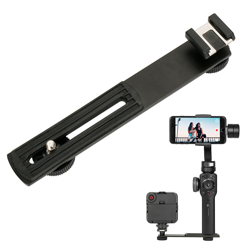 Ulanzi BOYA BY-C01 Metal Cold Shoe Plate Universal for iPhone Zhiyun Smooth 4/Smooth Q Gimbal LED Light BY-MM1 Microphone Flash ulanzi mini tripod l bracket stand with 2 hot shoe for zhiyun smooth q dji osmo mobile2 feiyu gimbal by mm1 microphone light