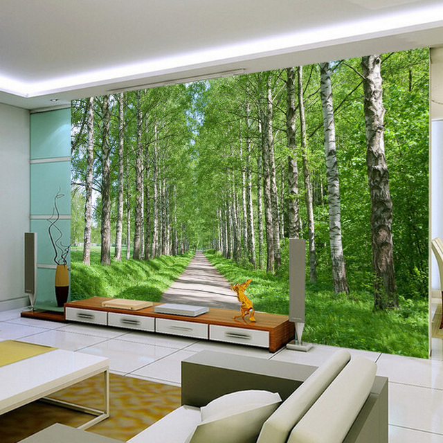 Wall Design Nature : Aliexpress buy d wall paper natural forest