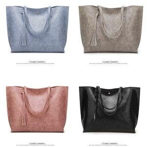 Image 3 - Designer Handbags Soft Leather Big Women Bags HandBags Famous Brands Top handle Bags Female PU Tote Shoulder Bags for Women 2020
