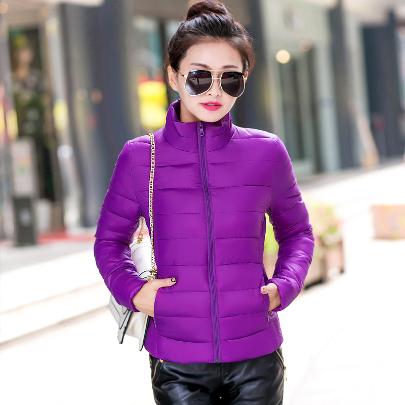 Womens Winter Jackets And Coats 2016 New Solid No Full Coat Cotton Padded Collar Size Slim Female Season Special Offer
