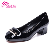 MeiRie'S 2017 wholesale style new design woman pumps shoes fashion sweet bowtie slip on shoes PU leather shoe free shipping