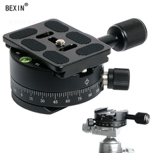 цены Bexin New Product Camera Tripod Ball Head with Quick Release Plate 360 Panoramic Panorama Head Clamp