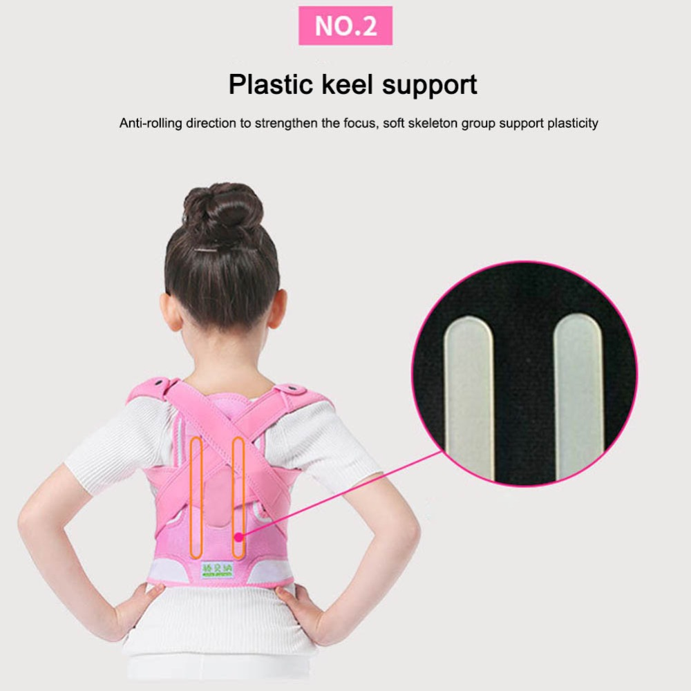 Image 2 - Posture Corrector Breathable durable comfortable Back Shoulder Lumbar Waist Supporting Correction Straighten Upper Children JD19Braces & Supports   -