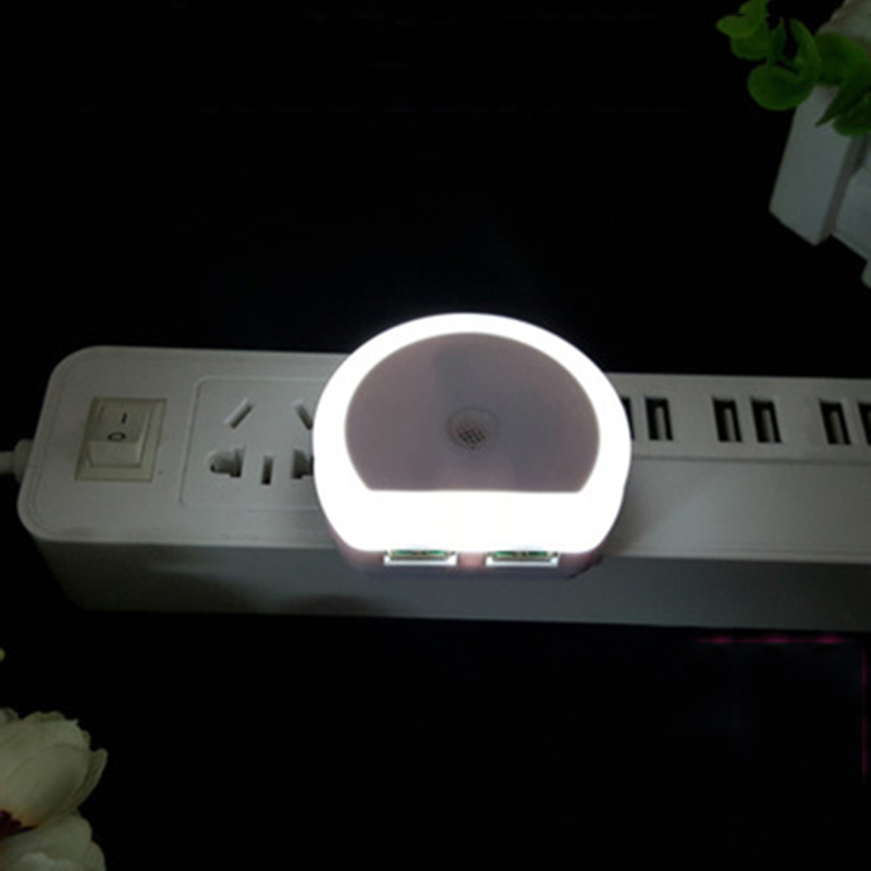 Image 5 - Sensor Night Light With Dual USB Port Phone Charger Led Lamps Mood Kids Baby Lamp EU/US Plug Socket Wall Night Lamp Luminaria-in Night Lights from Lights & Lighting