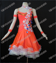 Sequins Latin Dance Dresses Evening Dress  Costume Dress Latin dance wear,tango salsa samba rumba chacha waltz dance suit,girl
