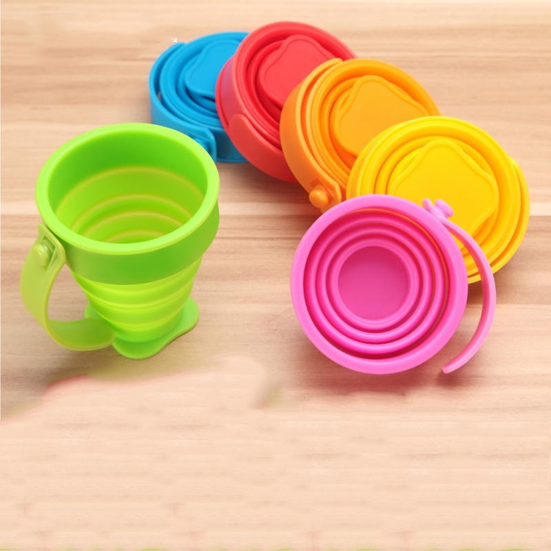 TUSY Silicone Collapsible Folding Drinking Travel Cup