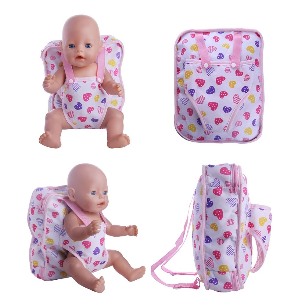 Outgoing Packets Doll Backpack Suitable for Carrying 43cm Baby Born Zapf Doll 1pcs PinkDoll Accessories Girl