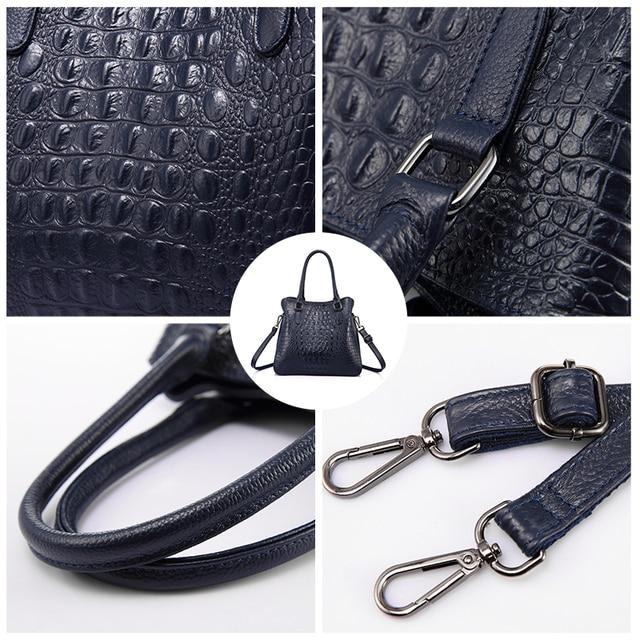 REALER luxury handbags women genuine leather crossbody messenger bags female tote high quality crocodile print ladies top-handle 5