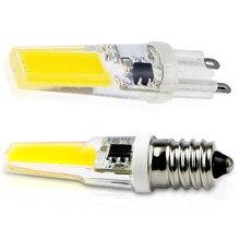 Laimaik cob led e14 lâmpadas 220 v led g9 lâmpada 9 w cob g9 led lâmpada 360 graus substituir halogênio e14 para lâmpada lustre lâmpadas led