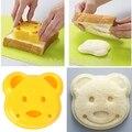 Hot!!! nova casa de alta qualidade sandwich toast pão mold fabricante de moldes diy cortador de biscoito de plástico ferramenta de urso dos desenhos animados frete grátis ia994 p31