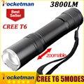 CREE XM-L T6 Mini Flashlight 3800lm Waterproof LED Flashlight 5 Modes LED Torch Light  Rechargeable Tactical 18650 Lanterna