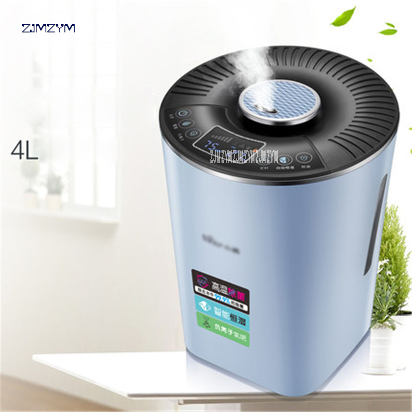 220V Ultra Mute 4L Intelligent Air Humidifiers Negative Ion Ultrasonic Sterilization With Constant Humidity And Timer JSQ-C40E1