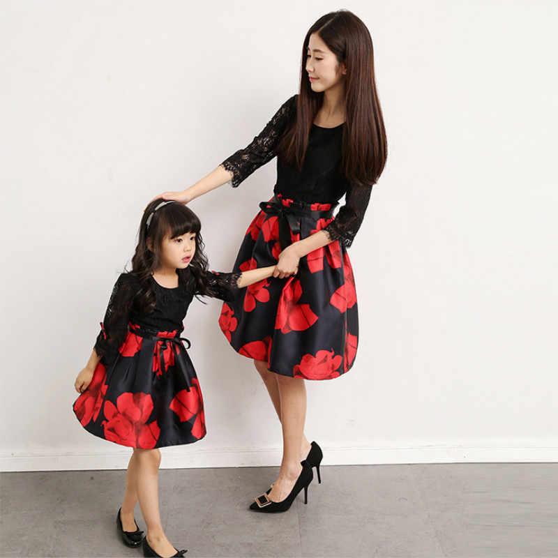 Mommy ชุดลูกสาวการจับคู่ชุดหญิงสาวเสื้อผ้า Mama แม่และ Me เสื้อผ้าครอบครัวดูชุดการถ่ายภาพ
