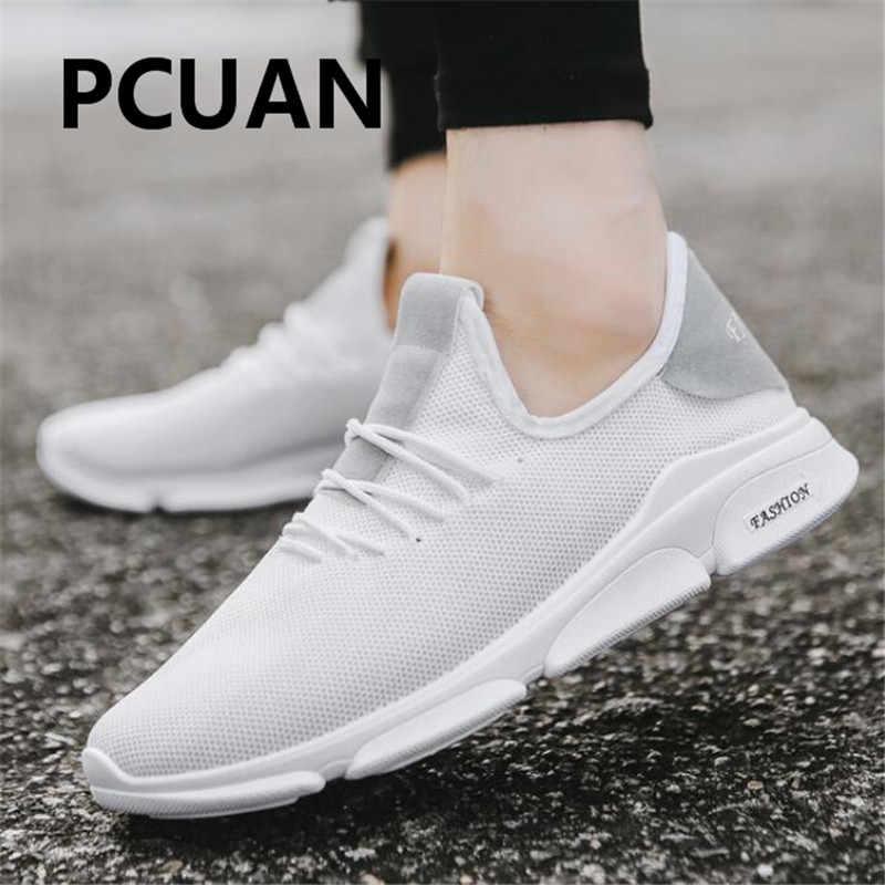 2018 Новая мужская обувь трендовая модная повседневная обувь четыре сезона Удобная дышащая Беговая обувь на плоской подошве низкая цена мужская обувь