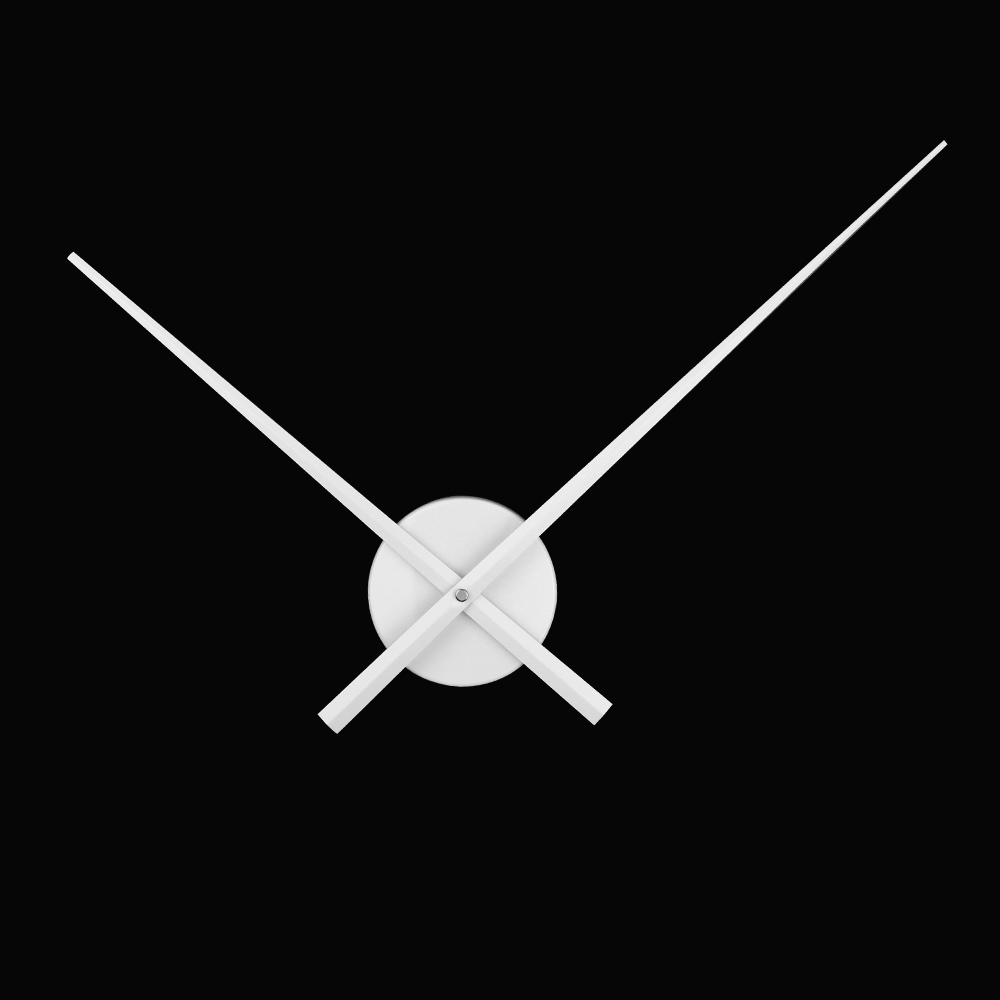 White Color Large Clock Needles Accessory For 3d Wall