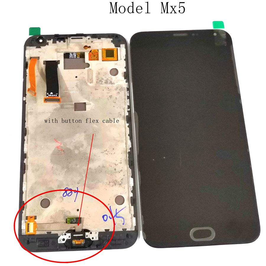 5.5For Meizu Mx5 M575M M575H lcd with frame/ display with touch glass frame full Assembly With Home button Flex cable5.5For Meizu Mx5 M575M M575H lcd with frame/ display with touch glass frame full Assembly With Home button Flex cable
