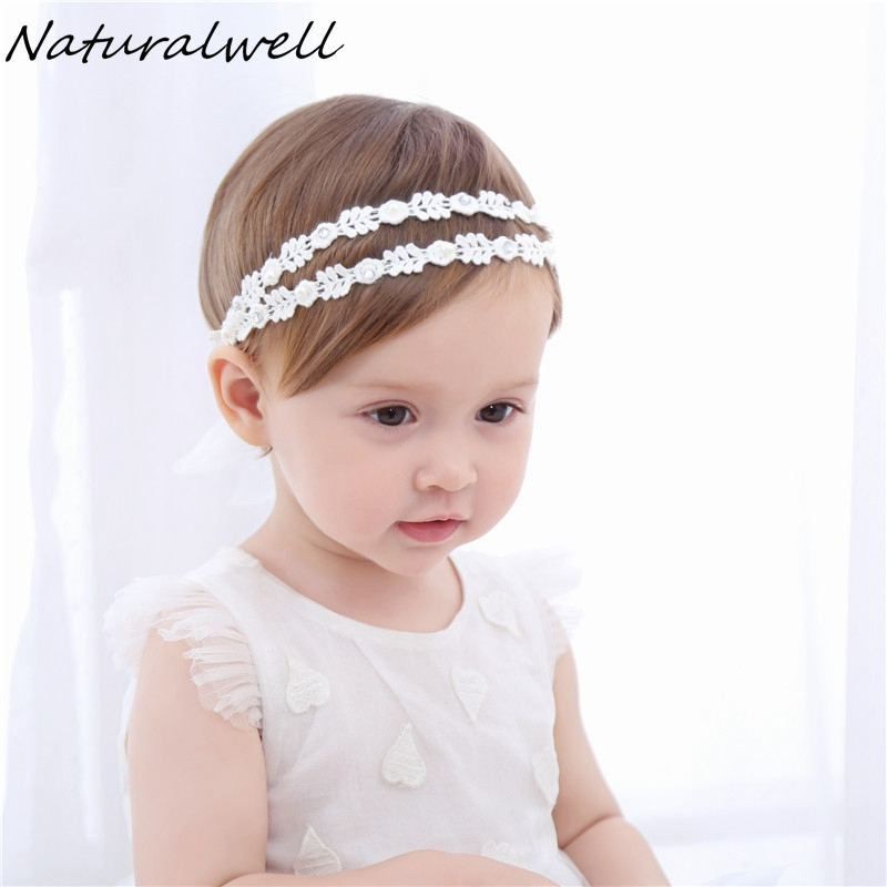 Naturalwell Children girls Rhinestones hairband Baby pearls Hairband Girl Headband Princess Hair Accessories photo shoots HB045 naturalwell flower headband bandage lace hairband girls hairpiece child hair accessory baby hairband newborn shower gift hb090