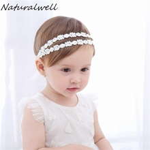 Naturalwell Children girls Rhinestones hairband Baby pearls Hairband Girl Headband Princess Hair Accessories photo shoots HB045