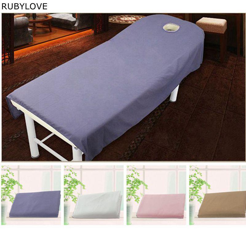 1 Pcs Effen Kleur Schoonheid Massage Badstof Bed Tafel Cover Salon Spa Banken Speciale Sheets 190x80 Cm Gsj9004 Kwaliteit En Kwantiteit Verzekerd
