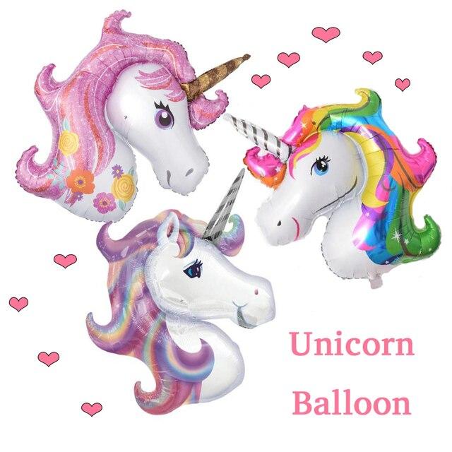 1pcs 117 87cm Unicorn Party Birthday Party Decorations Kids Foil