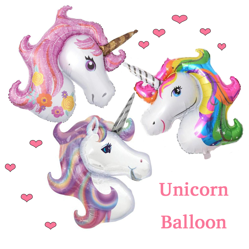 1Pcs 117*87cm Unicorn Party Birthday Party Decorations kids Foil Balloons Supplies Wedding Baby Shower Decor Rainbow