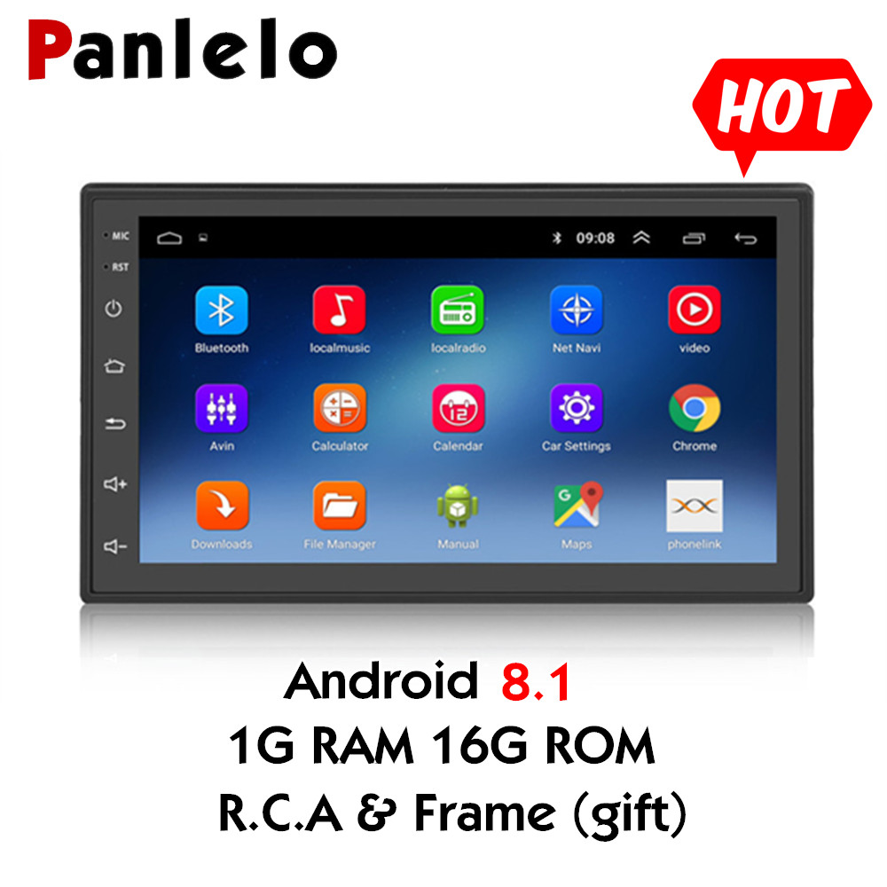 Android 8 1 Quad Core 2 Din Multimedia 7 inch 2 din Head Unit Car GPS