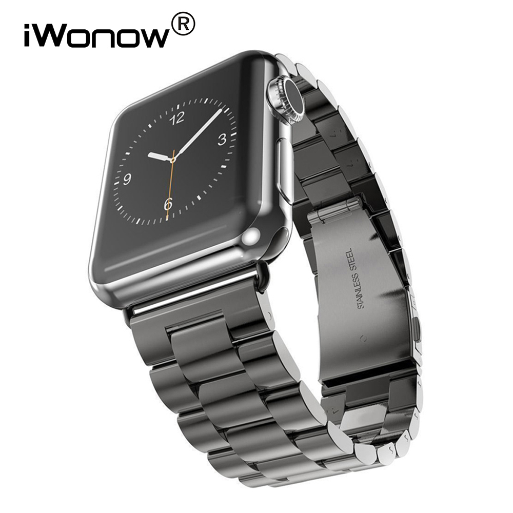 Stainless Steel Watchband + Adapter for iWatch Apple Watch Series 1 2 3 38mm 42mm Wrist Band Link Strap Bracelet Black Silver omnilux бра omnilux oml 35121 01 vlmpucx