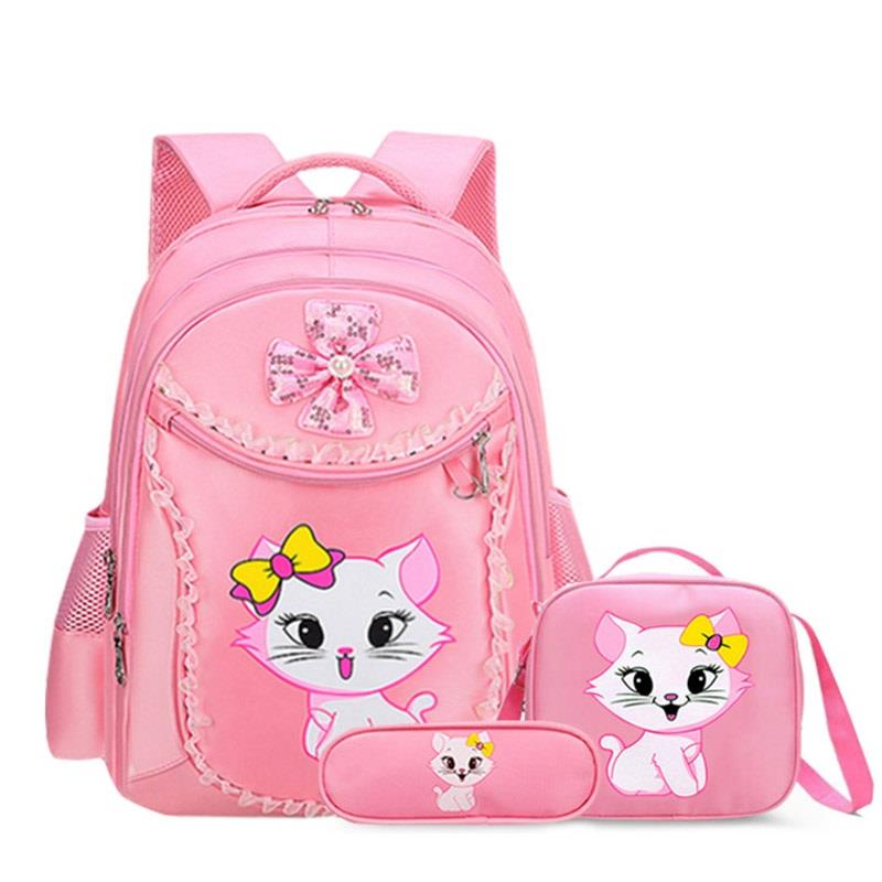 Princess Cat Children Backpack School Bags For Girls Cartoon Kid Backpack Children School Backpack Mochilas Escolares Infanti