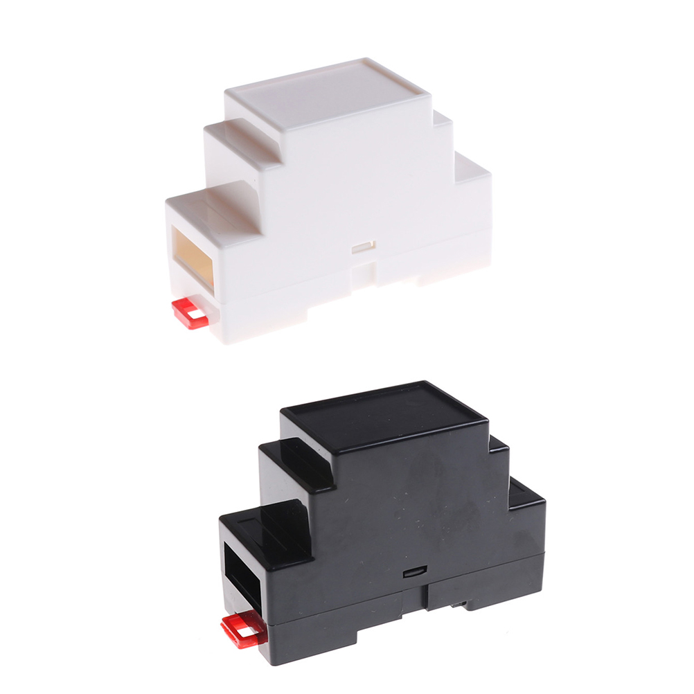 88x37x59mm Plastic Electronics Box Project Case DIN Rail PLC Junction Box