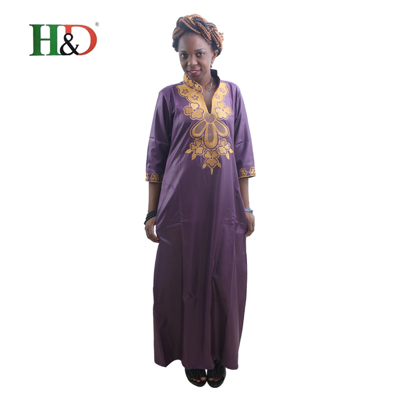H&D All african traditional dress for women printing robe africaine dashiki african clothing bazin rich clothes kaftan dresses