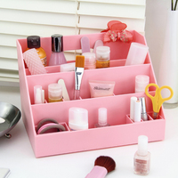 Desktop Storage Box Makeup Organizer Sundries Container Dressing Stationery Office Jewelry Drawer Home Living Room Cosmetics
