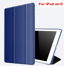 купить For iPad Air 1 Case Silicone Soft Back Cover Slim Pu Leather Smart Cover Case for iPad Air For iPad 5 Auto Sleep Stand Leather дешево