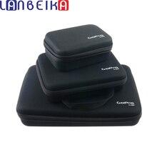 LANBEIKA For GOPRO 3 크기 나일론 스토리지 컬렉션 가방 케이스 GoPro Hero 9 8 7 6 SJCAM SJ5000 SJ4000 SJ6 SJ8 SJ9 DJI YI 카메라