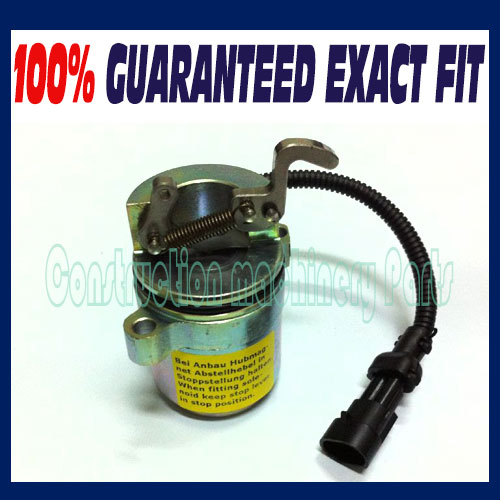 Fuel Shut Off Solenoid 6686715 for BOBCAT 863 864 873 883 fit Deutz Skid Steer OS 0427 2956 / 0427-2956 new turbo for deutz bf4m1011f turbocharger with gasket bobcat 863