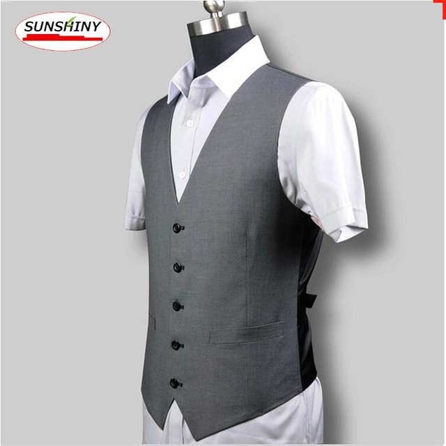 British Style Suit Vest Men's Personality Slim V-neck Suits CD15