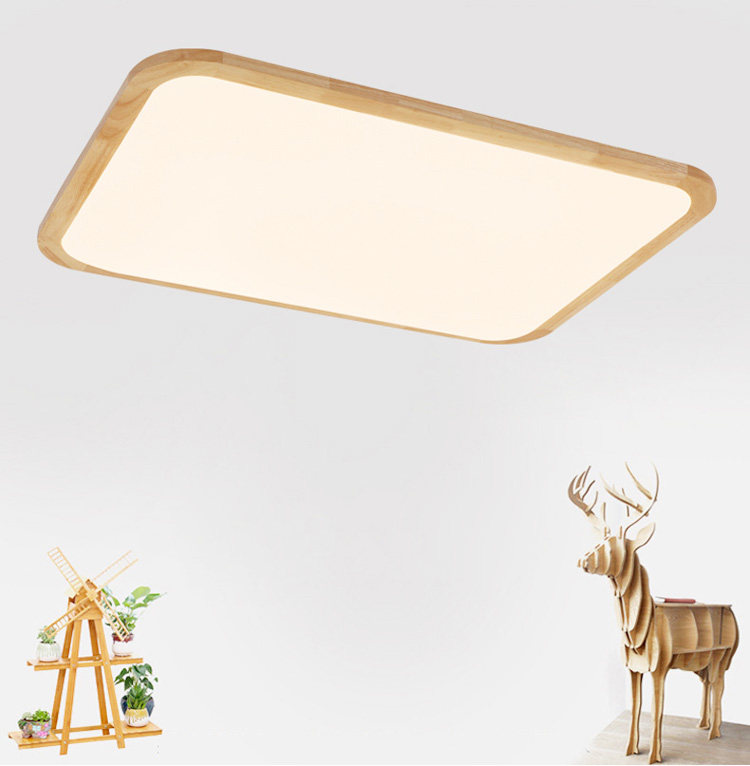 Nordic wooden ceiling lamp surface mounted led ceiling light Simple Bedroom Light lampara led techo lamparas de techo lan mu led ceiling lamp octopus light
