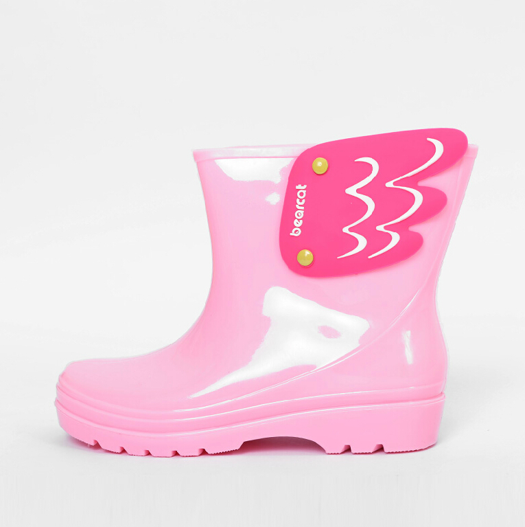 Koovan-Children-Rain-Boots-Childrens-Mid-Cut-Kids-Fashion-Baby-Girls-Boys-Water-Shoes-Cartorn-Wing-Fly-Rubber-Boots-Light-Wings-3