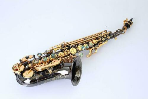 Маленький изогнутый никелированный Золотой Сопрано саксофон Bb Sax мундштук с чехлом