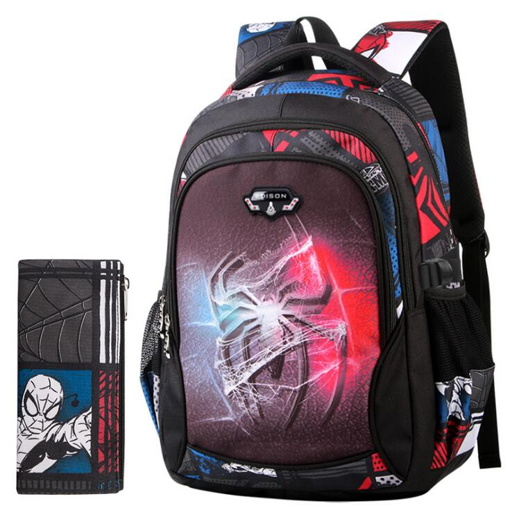 SpiderMan Children School Bags Boys Orthopedic Schoolbags Kids Backpacks Kids Satchel Primary School Backpacks Mochila Infantil