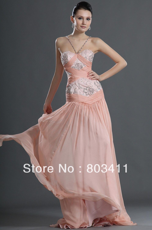 Vintage Mermaid Pageant Dress Fashion Spaghetti Strap Sweetheart Neckline Pink Evening Dress