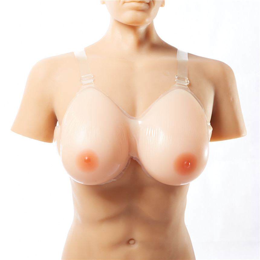 1 Pair 1800g Cup B Sz 32 34 Silicone Breast Form False Breast Boobs Enhancer For Mastectomy Crossdressers and Transvestites